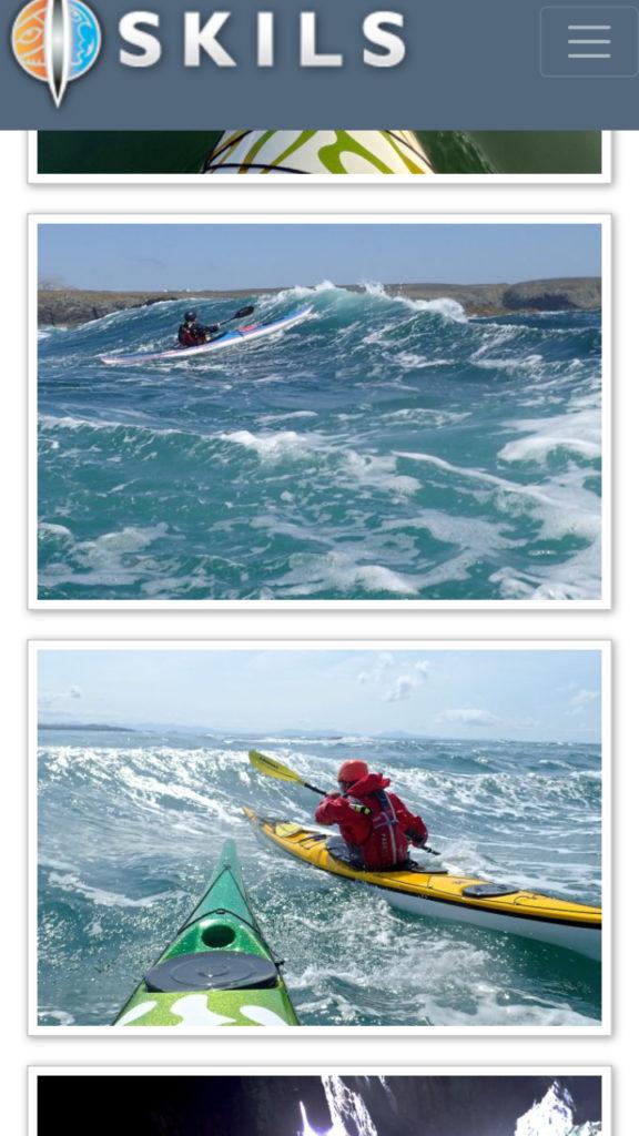La proa verde es del kayak de Justine Curgenven que hizo la foto. Gracias Justine!